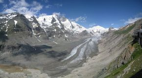 Grossglockner mountain and pasterze glacier, Austria Royalty Free Stock Images