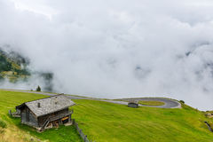 The Grossglockner mountains in foggy weather Royalty Free Stock Images