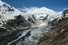 Grossglockner Panorama (Austria). Panorama of Grossglockner (3.798m) and the Pasterze (longest glacier in the eastern Alps). Austria Stock Photography