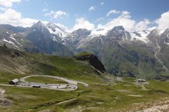 Grossglockner panorama road Royalty Free Stock Photo