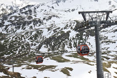 Grossglockner Panoramabahn, Mount Schareck royalty free stock photos