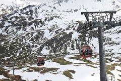 Grossglockner Panoramabahn, supporto Schareck Fotografie Stock Libere da Diritti