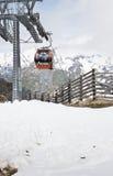 Grossglockner Panoramabahn till det Schareck berget Arkivfoto