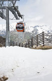 Grossglockner Panoramabahn to Schareck Mountain. Gondola of the Grossglockner Panoramabahn cable car on Mount Schareck, National Park Hohe Tauern in Austrian Stock Photo