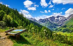 Grossglockner panoramic road in Austria. Observation deck royalty free stock image
