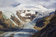 Grossglockner with Pasterze glacier, Alps, Austria Royalty Free Stock Photos