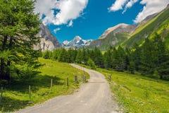 Grossglockner Trailhead alpino Immagine Stock