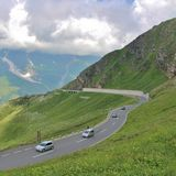 Grossglockner Wysoka Alpejska droga, Austria Obrazy Royalty Free