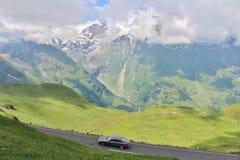 Grossglockner Wysoka Alpejska droga, Austria Fotografia Royalty Free