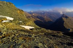 Grossglokner peak and valley. Stock Photos