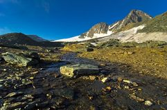 Grossglokner peak and wall. Royalty Free Stock Photos