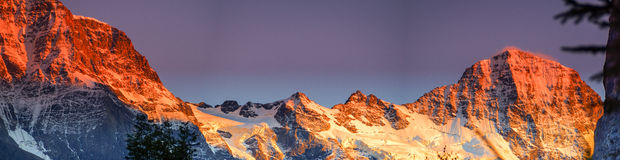 Grosshorn and Breithorn Royalty Free Stock Photography