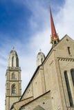 Grossmà ¼ nster教会苏黎世 图库摄影