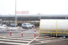 Grossmarkt Selgros Bukarest Lizenzfreie Stockfotos