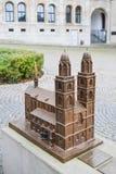 Grossmuenster church miniature Stock Photo