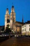 Grossmuenster in Zurich Stock Photo