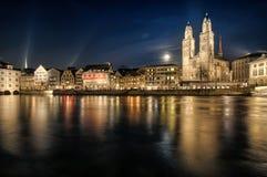 Grossmuenster in Zurich stock images