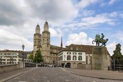 Grossmunster教会,苏黎世 库存图片