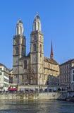Grossmunster教会,苏黎世 图库摄影