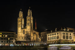 Grossmunster教会,苏黎世 免版税库存图片