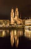 Grossmunster, a biggest church in Zurich, Switzerland Stock Image