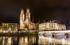 Grossmunster, a biggest church in Zurich Royalty Free Stock Images