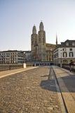 Grossmunster Cathedral Zurich Stock Photo