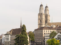 Grossmunster church and surroundings Royalty Free Stock Images