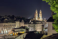 Grossmunster church, Zurich Royalty Free Stock Photography