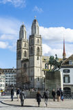 Grossmunster church Zurich Royalty Free Stock Images