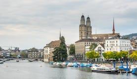 Grossmunster church in Zurich Royalty Free Stock Photos