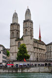 Grossmunster church of Zurich, Switzerland Royalty Free Stock Image