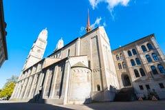 Grossmunster Church in Zurich Stock Photo