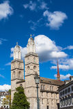 The Grossmunster Church in Zurich Stock Image