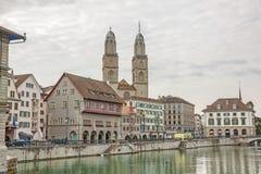 Grossmunster en Zurich Fotos de archivo