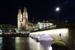 The Grossmunster (great minster) church, Zurich Royalty Free Stock Image