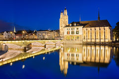 Grossmunster in Zurich, Switzerland Stock Photography