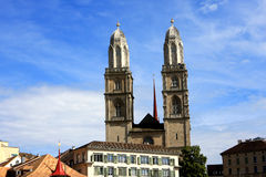 Grossmunster, Zurich Royalty Free Stock Images