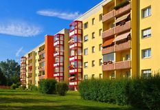 Grossraeschen apartment blocks Royalty Free Stock Images