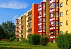 Grossraeschen apartment blocks Royalty Free Stock Photo