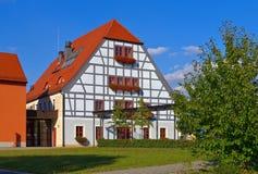 Grossraeschen half-timber Haus Lizenzfreies Stockfoto