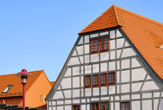 Grossraeschen half-timber house Royalty Free Stock Images