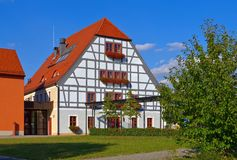 Grossraeschen half-timber house Royalty Free Stock Photo