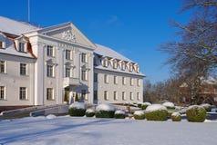 Grossraeschen Hotel in winter Royalty Free Stock Photos