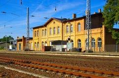 Grossraeschen railway station Stock Photo