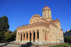 Grossstädtische orthodoxe Kathedrale in Targoviste, Dambovita, Rumänien Stockfoto