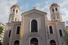 Grossstädtischer orthodoxer Tempel Saloniki, Griechenland des Heiligen Gregory Palamas Lizenzfreie Stockbilder