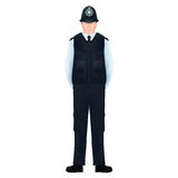"""Grossstädtisches britisches Polizeibeamten †""""realistisch, ausführlich lizenzfreie abbildung"""