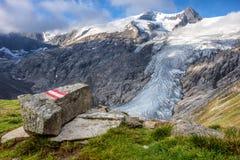Grossvenediger主要冰川从东部的 库存图片