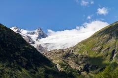 Grossvenediger and Innergschloess valley Stock Photo